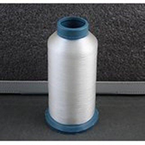 Weiß Nylon unsichtbar Nähgarn, Größe 0,12mm–6.000Yards Membran (Overlock Nylon-faden)