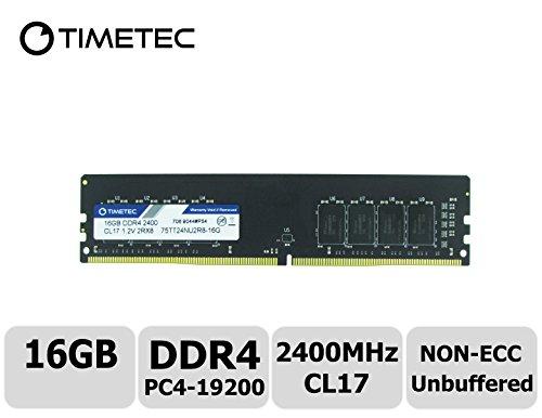 Timetec Hynix IC 16GB DDR4 2400MHz PC4-19200 Nicht ECC Ungepuffert 1.2V CL17 2Rx8 Dual Rang 288 Pin UDIMM Desktop PC Computer Speicher RAM Modul Upgrade (16GB) (G1 Sniper 3)
