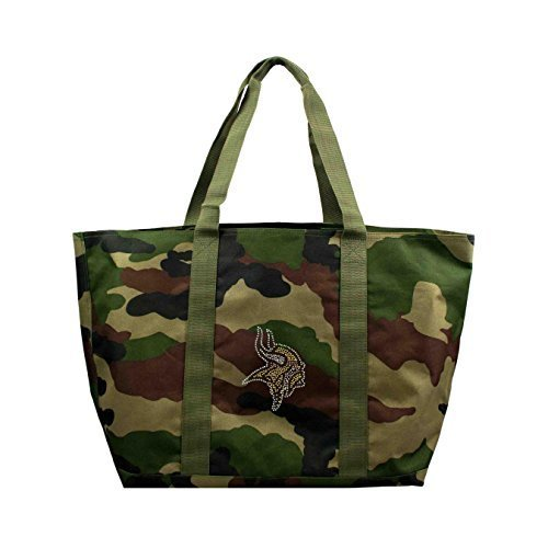 nfl-minnesota-vikings-camo-tote-24-x-105-x-14-inch-olive-by-littlearth