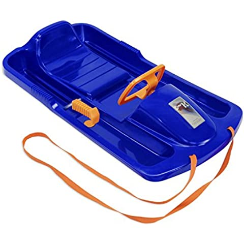 KHW Rodel Snow Fox - Trineo de descenso, color azul / naranja
