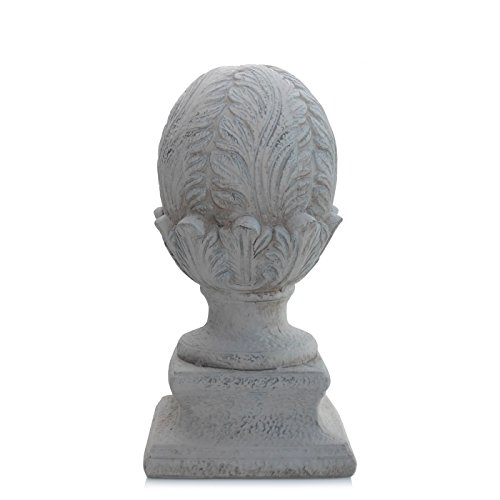 Dekoobjekt CYPRES - Dekofigur aus Keramik - Zapfen - Gartendeko - shabby-chic (13.5x28 cm)