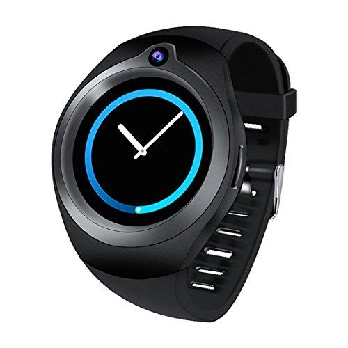 XHL Art Android 5.1 OS Smart Watch 1.3 Zoll Herzfrequenz Kamera Video Gesundheit Überwachung S216 Smartwatch Telefon Unterstützung 3G Wifi Sim WCDMA,Black -