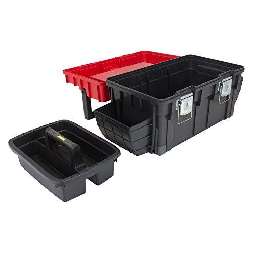 HD Trophy 3 Plus Werkzeugkoffer Box Toolbox Werkzeugkiste 595x345x355 Alugriff schwarz / rot - 5
