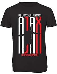 d25651532 Bughyprint Tshirt t-Shirt Maglia Maglietta Ajax Amsterdam DE LIGT Fino al  Confine