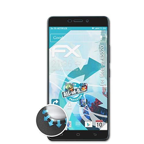 atFolix Schutzfolie passend für Medion X5520 Folie, ultraklare & Flexible FX Bildschirmschutzfolie (3X)