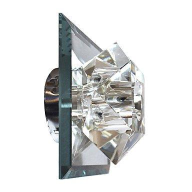 moderna applique da parete in cristallo con 1 placcano luce (Lampada Da Parete Finita)
