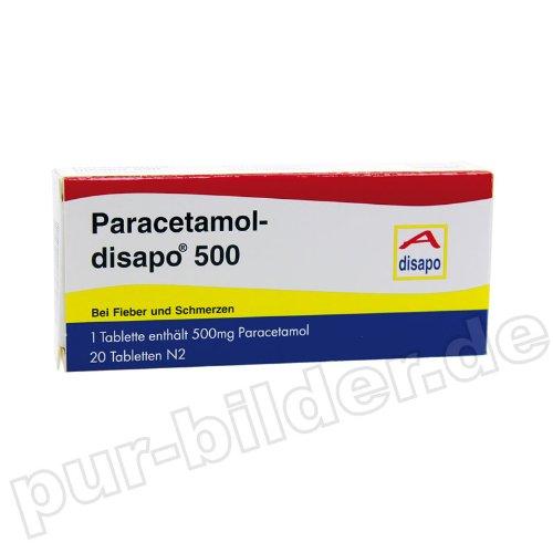 PARACETAMOL disapo 500 Tabletten, 20 St N2