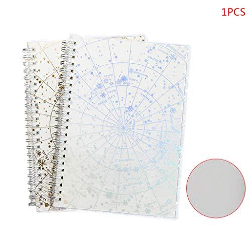 Der Neue Sternenhimmel Heißprägen Silber Laserspule Notebook Kalender Jahr Tagesplaner Leidenschaft Ziel Veranstalter Kreatives Briefpapier Monatlich Und Wöchentlich Datiert Agenda-Buch (Monatlich Kalender-buch)