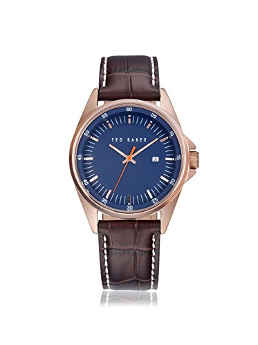TED BAKER rond CADRAN cuir - Marron Homme MONTRE #te1116