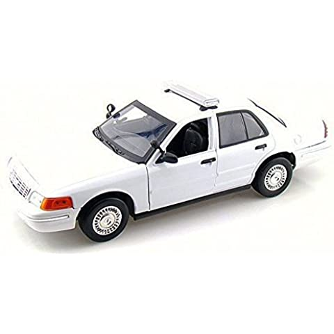2001 Ford Crown Victoria Undecorated Police Car, Motor Max 73517 - 1/18 Scale Diecast Model Toy Car by Motor Max