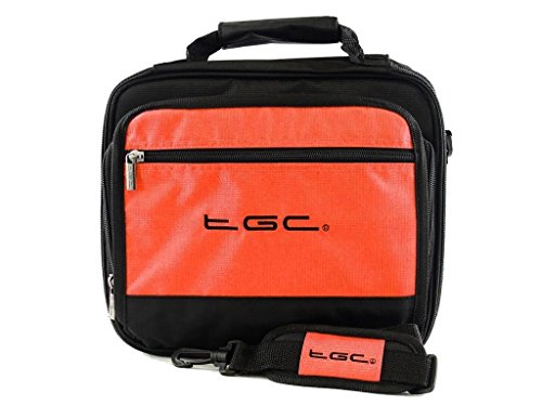 sony-dvp-fx820-r-portable-dvd-player-twin-compartment-case-bag-by-tgc-r-hot-orange-black