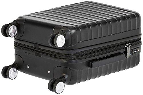AmazonBasics – Hochwertiger Hartschalen-Trolley mit Schwenkrollen und eingebautem TSA-Schloss – 55 cm, Handgepäck, Schwarz, Genehmigt als Handgepäck auf vielen Airlines - 6