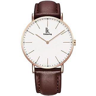 Alienwork-IK-Unisex-Armbanduhr-Damen-Herren-Uhr-Leder-Armband-Lederband-schwarz-Analog-Quarz-Damenuhr-Herrenuhr-Wasserdicht-Ultra-flach-dnn-Klassik