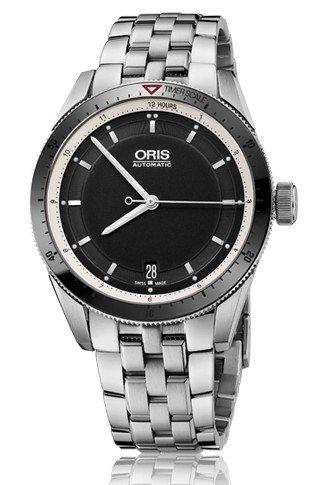 Oris Artix GT data nero quadrante acciaio mens orologio...
