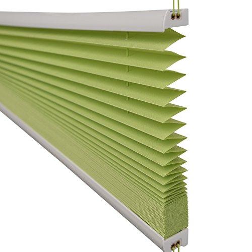 Sol Royal Plissee SolDecor P25 – 45×100 cm Grün – Klemm-Fix ohne Bohren – Plissee-Rollo Jalousie für Fenster & Türen - 5