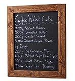ELAFI ® Magnetische Kreidetafel 20 x 30cm anthrazit schwarz | Schreibtafel zum Aufhängen A4 | Schiefertafel mit Rahmen | Magnettafel aus Kiefernholz | Wandtafel inkl. Jute Seil zum Aufhängen