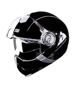 Studds - Full Face Unisex Helmet - Downtown Full Face Flip Off (Black, Large 580Mm)