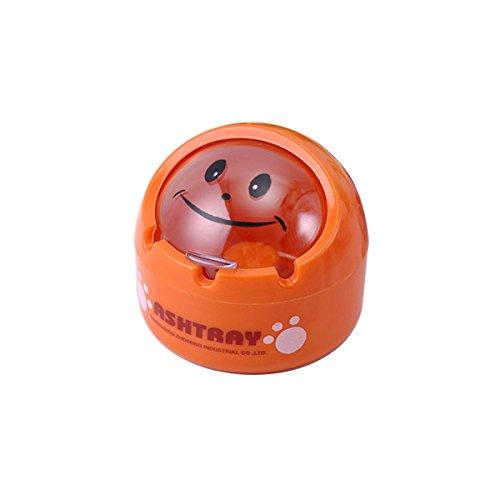 Coquilles Le Vent Boîte Sphère Véhicule Cendriers Boîtes à Cigarettes Cendriers,Orange