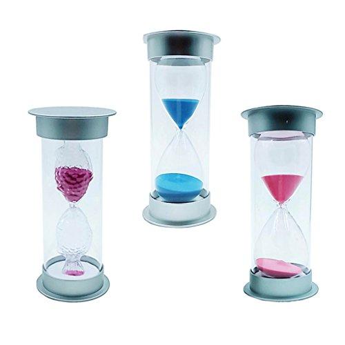 Baoblaze 3er/Set Sanduhr Zahnputzuhr Stundenglas Kurzzeitmesser Dekoration - 15 Minuten / 45 Minuten /60 Minuten