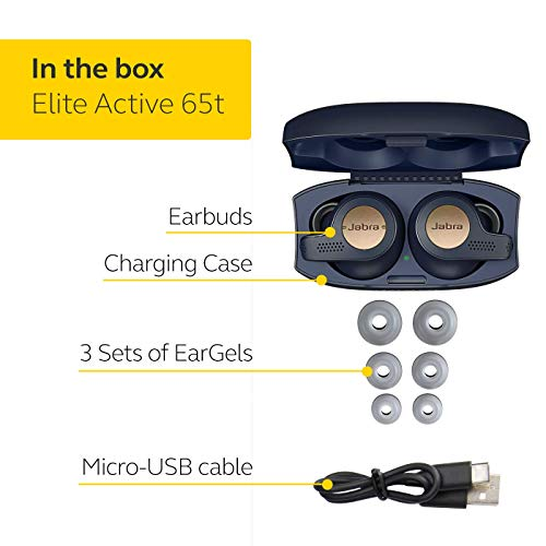 Jabra Elite Active 65t Alexa Enabled True Wireless Sports Earbuds with Charging Case - Copper Blue Image 6