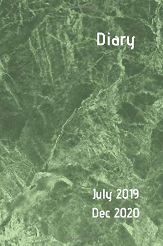 Diary July 2019 Dec 2020: Dark green marble design. 6x9 week to a page 18 month diary. Space for notes and to do list on each page. Perfect for teachers, students and small business owners. - New Green Apple
