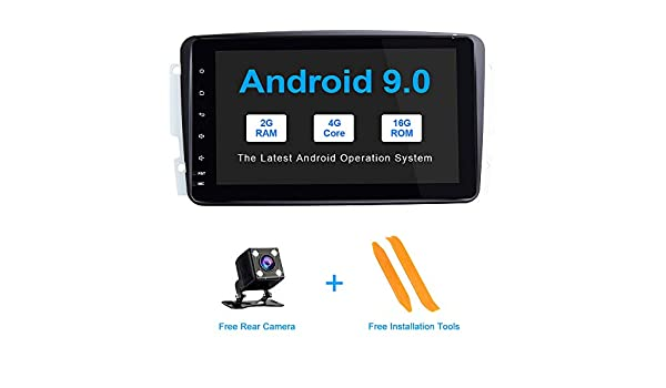 ZLTOOPAI for Mercedes Benz W209 W203 W168 W163 W463 Viano W639 Vito Vaneo Series Double Din Head Unit 7 Inch Capacitive Multi-Touch Screen Car Stereo GPS Radio with Free Map Card Car Rear View Camera