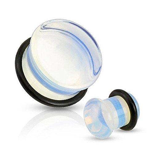 Piercing plug pierre semi precieuse Opalite Taille 5 mm