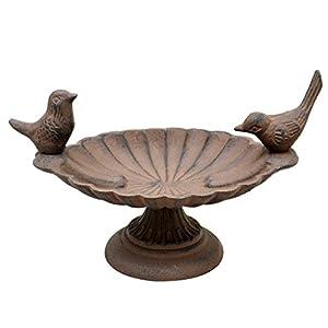 Cast Iron Love Birds Bird Bath 18cm - Welcome the Birds to your Garden this Spring!