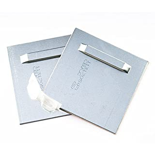 Klebebleche, Spiegelaufhänger bis 12kg, Aufhänger für Spiegel, Alu-Dibond. selbstklebend