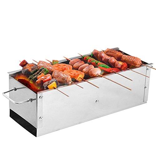 YONG@ BBQ portatif de charbon de bois de barbecue épais de ménage d'acier inoxydable de gril grand ( taille : S )