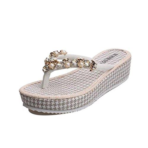 Fulltime® Mode féminine été tongs Wedges Sandales Bohemian Chaussures