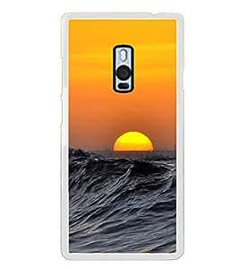 PrintVisa Ocean Sun Set High Glossy Metal Designer Back Case Cover for OnePlus 2 :: OnePlus Two
