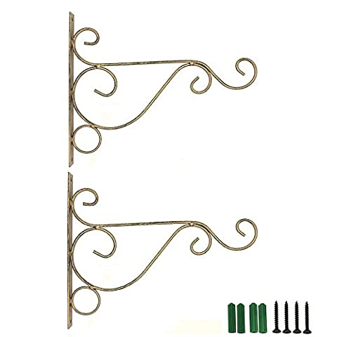 Onstro Pack of 2 Wall Hanger for Basket Lantern Light Plant (Small, Bronze)