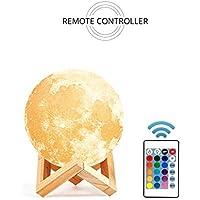 Woojop 15 Cm De Control Remoto 3D Lámpara De Luna Sin Electrodos Atenuación 3D Lámpara De Luna De Carga LED Decorativo Lámpara De La Noche Pequeña Luz Nocturna