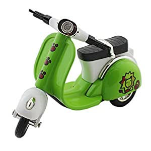 Toy Scooter With Pull Back Mechanism - Green - Vintage Playing Bikes Cars For Kids