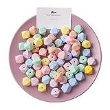 Mamimami Home Baby Teether 50pc Silikon Multi-facettierte Perlen Süßigkeit Farbe 14mm DIY Krankenpflege Armband Baby Zubehör Lebensmittel Grade Baby Teether Spielzeug