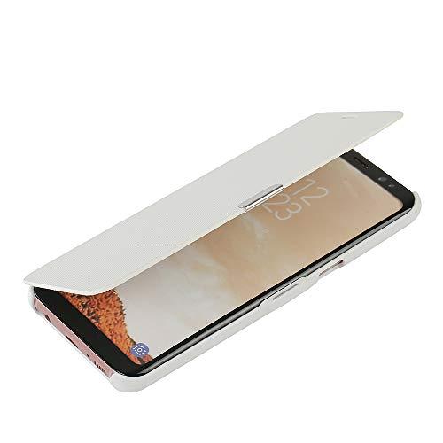 MTRONX für Samsung Galaxy S8 Plus Hülle, Case Cover Schutzhülle Tasche Etui Klapphülle Magnetisch Dünn PU Leder Folio Flip für Samsung Galaxy S8 Plus - Weiß(MG-WH)