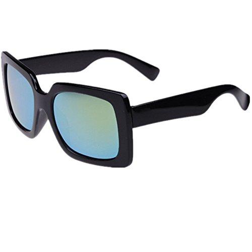 O-C Unisex black stylish driving shield coating sunglasses UV 400