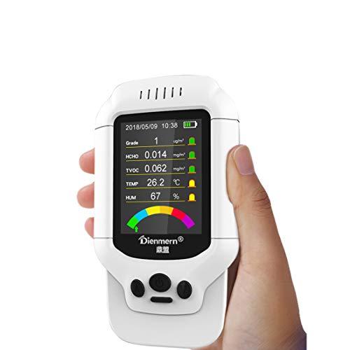 LLC - Air Meters Prüfung des Luftqualitätsdetektors auf Formaldehyd (HCHO) TVOC PM2.5 / PM1.0 / PM10 Luftqualitätsverschmutzung mit Temp HUM Echtzeit-Aufzeichnungsdaten für Autos im Freien