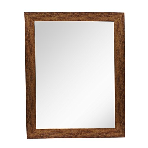 999Store antique brown fiber framed bath wall mirror
