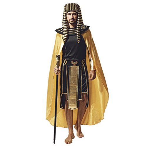 Zhhlaixing Fasching Herren Partei/Halloween/Cosplay Kostüme Ägypten Pharao Styles Creative Performance Lange Robe- One Size,(Style 5-9)