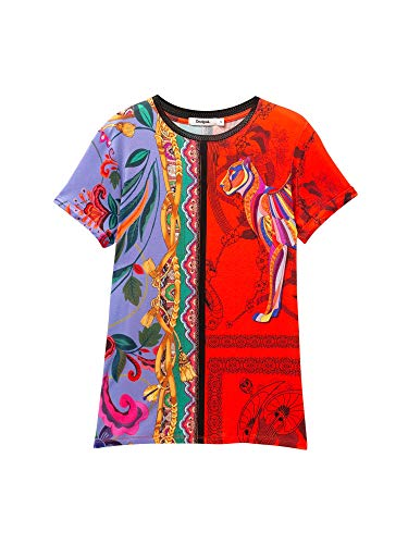 Desigual - Camiseta Craft Mujer Color: 3000 Talla: Size S