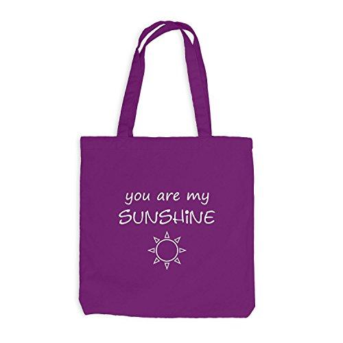 Jutebeutel - You're my Sunshine - Geschenk Sunny Friends Magenta