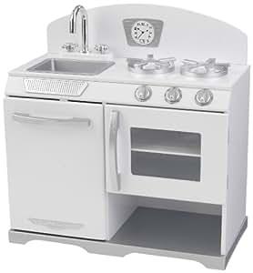 Kidkraft 53234 jeu d 39 imitation cuisine r chaud r tro blanc jeux et jouets - Cuisine vintage kidkraft ...