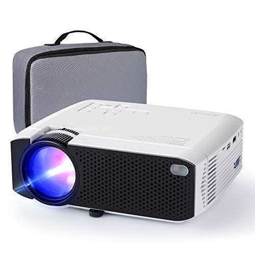 Proyector APEMAN 3800 lúmenes Mini proyector portátil LCD proyector de Cine en casa 50000 Horas Soporte de Pantalla 1080P HDMI / VGA / USB / SD / AV (Bolsa de Transporte incluida)