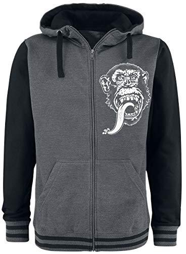 Gas Monkey Garage Hoodie Dallas, Texas Varsity Zip Grey size L 4 Zip Hoodie