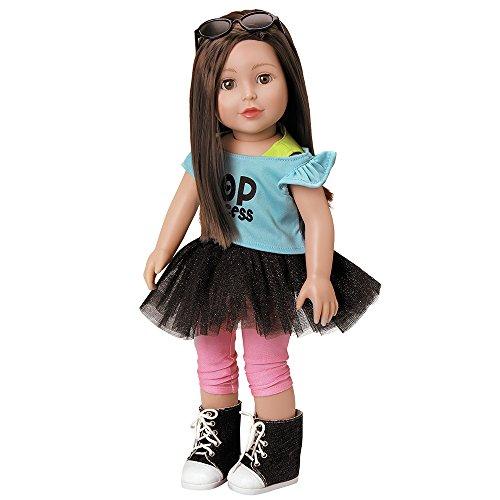 "Adora Amazing Girls Doll ""Emma"" Soft Body Vinyl Fashion Play Toy with Open/Close Eyes, 18-inch (Ages 6+)"