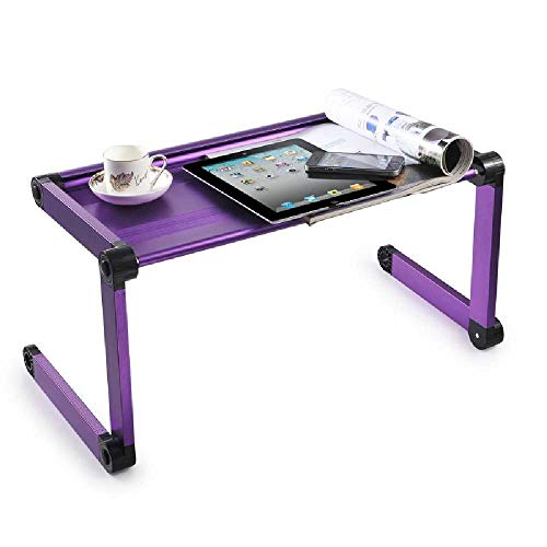MittyL Computerständer, Schlafzimmer, Laptop-Tisch, All-in-One-Klappbett, PC-Tisch Violett Pixel-10 Einheiten