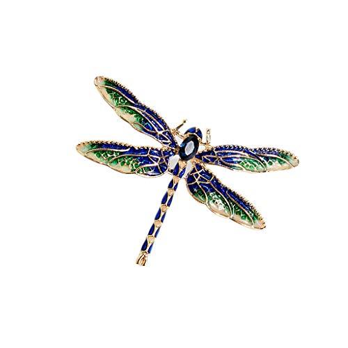 Nosterappou Wunderschöner Charme und Elegante Brosche, Retro lackierte Glasurbrosche, zarter schöner Anzug mit blauem Kristallbrosche