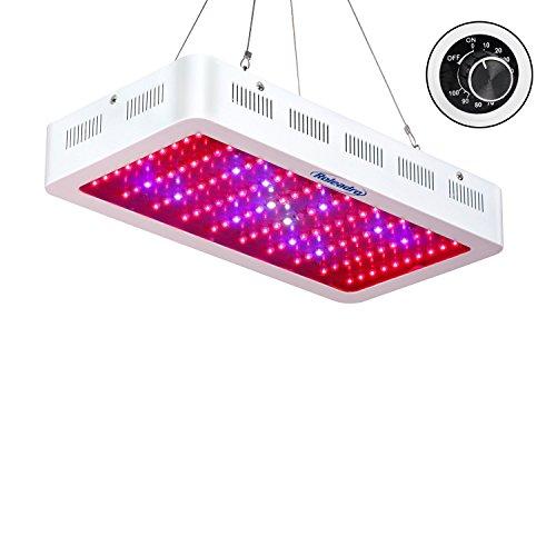 Roleadro 300W Led Pflanzenlampe Dimmbare Grow Led Lampe,Pflanzenleuchte Vollspektrum Led Wachstumslampe mit UV IR Licht für Pflanzen Wachstum Blühend